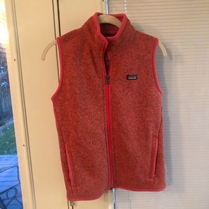 Patagonia better sweater weather vest in pink